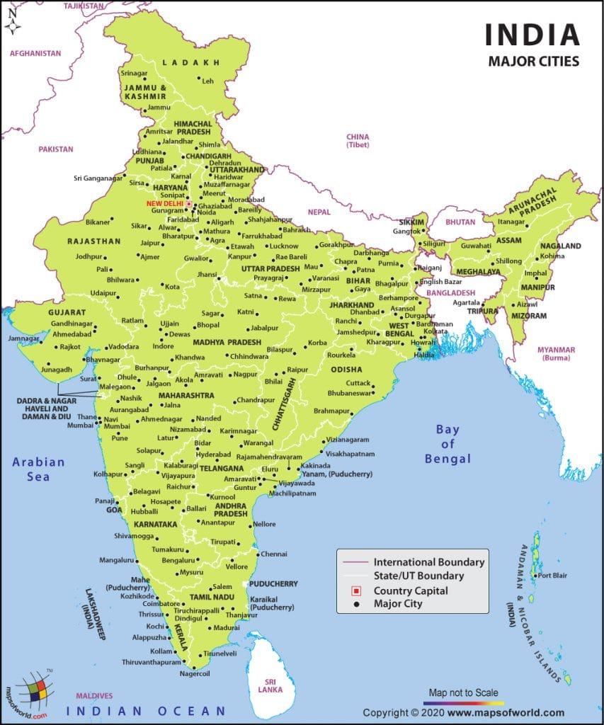 Important Cities of India