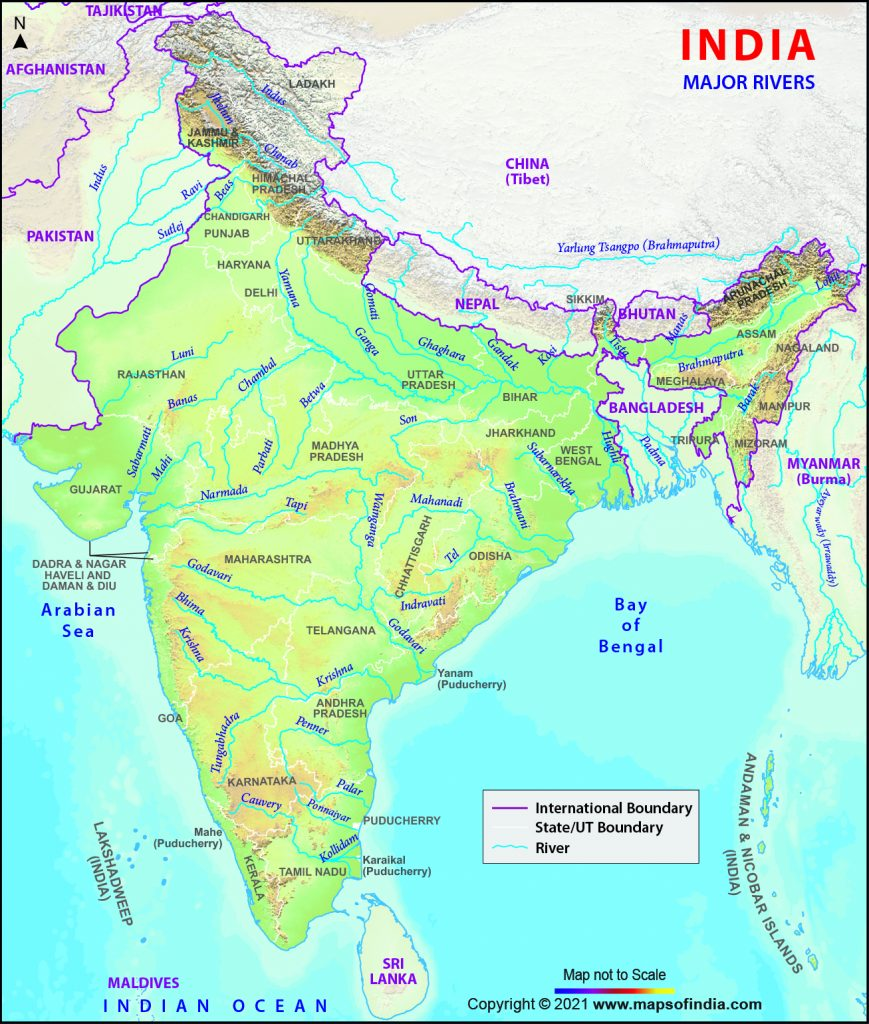 Important Rivers in India