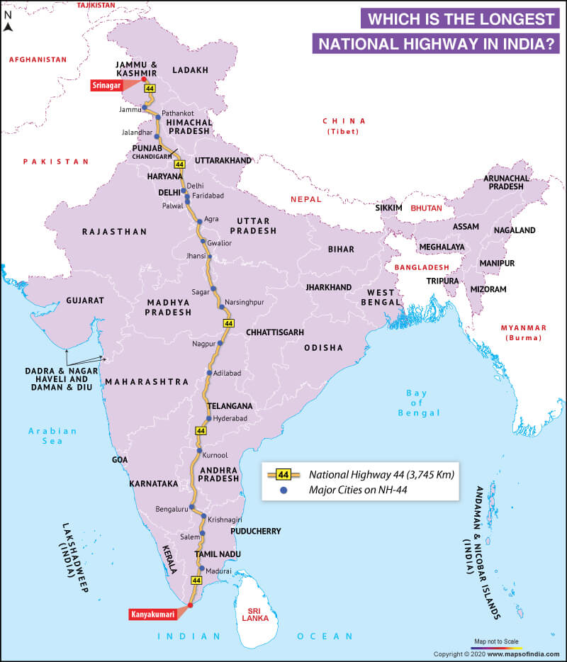longest-national-highway-in-the-india